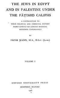 The Jews in Egypt and in Palestine under the Fatimid Caliphs cover