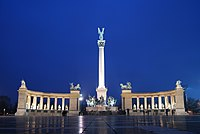 The Millennium Monument in Heroes' Square, Budapest, Hungary.jpg