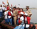 The Minister of State (Independent Charge) for Environment and Forests, Smt. Jayanthi Natarajan at the ITBP Ganga Punardarshan River Rafting expedition, in Allahabad on May 20, 2012.jpg