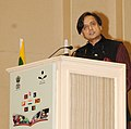 The Minister of State for Human Resource Development, Dr. Shashi Tharoor addressing at the International Literacy Day celebrations, in New Delhi on September 08, 2013.jpg