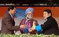 The Prime Minister, Dr. Manmohan Singh being presented a traditional memento by the Chief Minister of Arunachal Pradesh, Shri Dorjee Khandu, at a public meeting, in Itanagar, Arunachal Pradesh on January 31, 2008.jpg