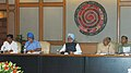 The Prime Minister, Dr. Manmohan Singh chairing a meeting of Committee on Infrastructure, in New Delhi on June 15, 2007.jpg