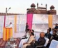 The Prime Minister, Shri Narendra Modi addressing the gathering at the Dussehra celebrations at Madhav Das Park, Red Fort, on the auspicious occasion of Vijay Dashmi, in Delhi on September 30, 2017.jpg