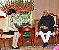 The Prime Minister of Thailand, Ms. Yingluck Shinawatra calls on the Vice President, Shri Mohd. Hamid Ansari, in New Delhi on January 25, 2012.jpg