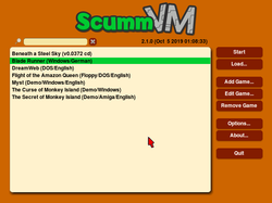 "The ScummVM GUI with the ""modern remastered"" skin.png"