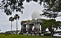 The Sea-based X-Band Radar (SBX) transits the waters of Joint Base Pearl Harbor-Hickam, Hawaii, March 22, 2013 130322-N-RI884-064.jpg