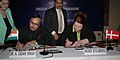 The Secretary, Ministry of Overseas Indian Affairs, Dr. A. Didar Singh and the Danish Minister for Employment, Ms. Inger Stojberg signing a Social Security Agreement between India and Denmark, in New Delhi.jpg