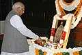 The Speaker, Lok Sabha, Shri Somnath Chatterjee paying floral tributes to Shri C. Rajagopalachari on the occasion of his birth anniversary, in New Delhi on December 10, 2008.jpg