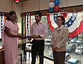The U.S Consulate Chennai celebrated its two-year anniversary on Facebook with U.S. Consul General Jennifer McIntyre, actors Bharath Srinivasan and Jeyam Ravi03.jpg