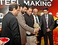 The Union Minister of Steel, Chemicals & Fertilizers, Shri Ram Vilas Paswan lighting the lamp at the inauguration of 'Summit on Mining to Steel Making' organized by Indian Chamber of Commerce, in New Delhi on March 05, 2008.jpg