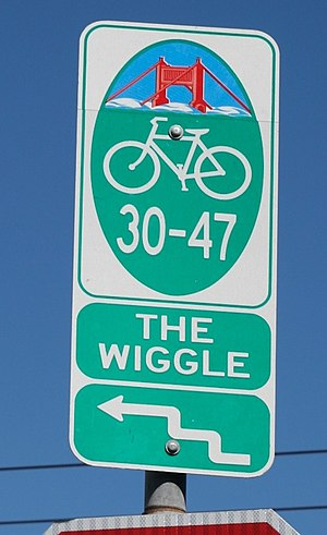 Lower Haight, San Francisco - The Wiggle bicycle route through the Lower Haight