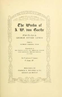 The Works of J. W. von Goethe, Volume 4.djvu