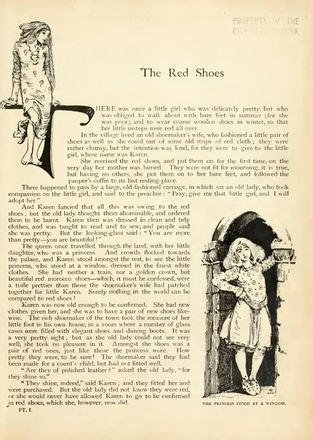 The Red Shoes Fairy Tale Book