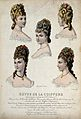 The heads and shoulders of five women with their hair combed Wellcome V0019892ER.jpg