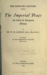 William Mitchell Ramsay: The Imperial Peace