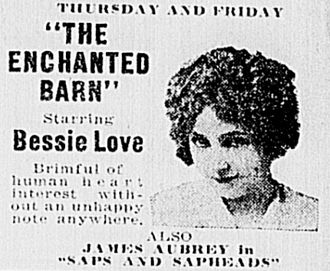 The Enchanted Barn - Newspaper advertisement