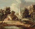 Thomas Gainsborough - Landscape with cottage and church - Google Art Project.jpg