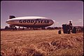 Threshing at the Pierson Park Airfield, Goodyear Blimp in Background 06-1973 (4271563551).jpg