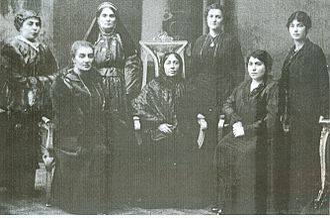 Azerbaijanis in Georgia - Azerbaijani women of Tiflis, 1910
