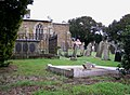 Tilting gravestones in St. Helen's churchyard - geograph.org.uk - 675866.jpg