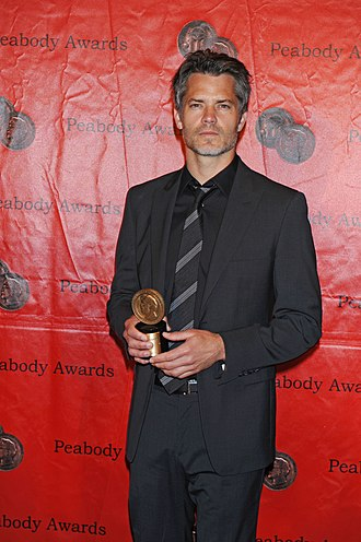 Raylan Givens - Timothy Olyphant at the 70th Annual Peabody Awards with award for Justified