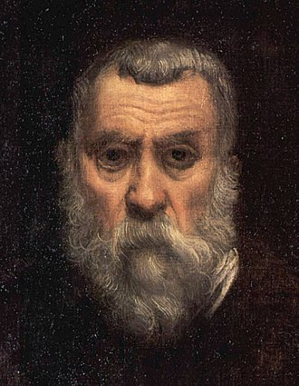 Tintoretto - Detail of a self-portrait