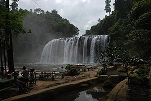 Tinuy-an Falls - A view of the falls showing the second tier