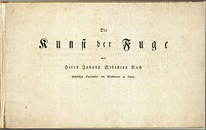 The Art of Fugue - Title page of the first edition, 1751