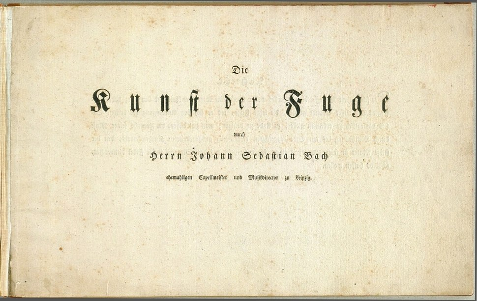 Title page of The Art of Fugue