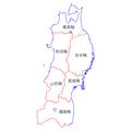 Tohoku Region Administration Map TC.png