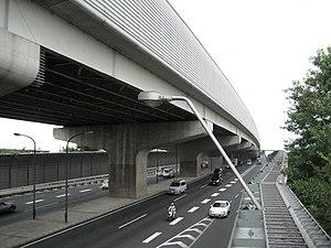 Tokyo Gaikan Expressway - Image: Tokyo Gaikan Expressway and Japanese national route 298