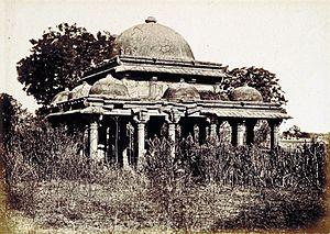 Achut Bibi's Mosque - Image: Tomb near Achut Bibi's Mosque Ahmedabad 1866
