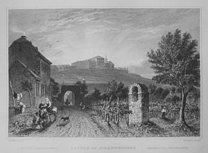 Schloss Johannisberg - Schloss Johannisberg around 1832 engraving by William Tombleson