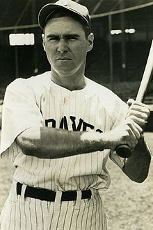 Tommy Holmes With The Boston Braves