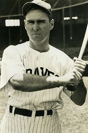 Tommy Holmes - Holmes with the Boston Braves