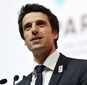 Tony Estanguet - Tony Estanguet during a convention for Paris bid for the 2024 Summer Olympics at the Philharmonie de Paris in 2016.