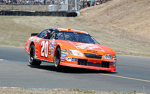 Tony Stewart - Stewart on two wheels before going on to win the 2005 Dodge/Save Mart 350, at Infineon Raceway