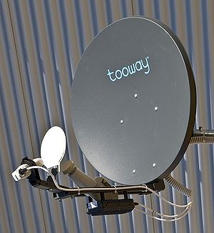 Tooway satellite antenna photo.