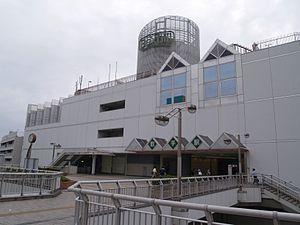 Toride Station - Toride Station west entrance, June 2010