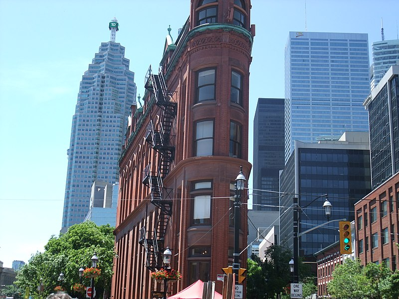 File:Toronto's Flatiron building, Front and Church.jpg