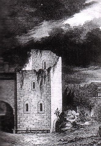 Torre dei Gualandi - Torre della Muda, Giovanni Paolo Lasinio, engravings dated 1865.