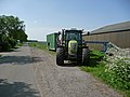 Tractor with barn, in the fields of Drenthe, The Netherlands.jpg