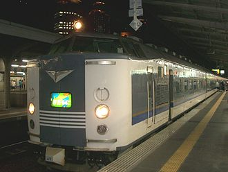 583 series - Reliveried 583 series on a Kitaguni service in August 2005