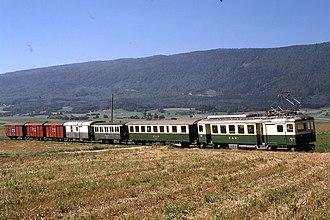 Morges - A train of the Bière-Apples-Morges line