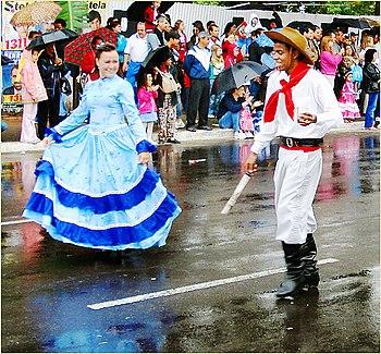 Typical gaucho clothing, Porto Alegre, Brazil A Origem Do Churrasco
