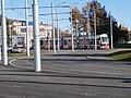 Tram 502 crossing Peterburi tee in Tallinn 20 October 2015.jpg