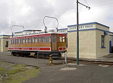 Tram at the summit station - geograph.org.uk - 1925909.jpg