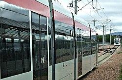 Trams at Edinburgh Airport station (geograph 3676810).jpg