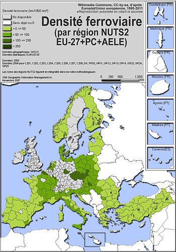 Carte Ferroviaire Deurope.Reseau Ferroviaire Wikipedia