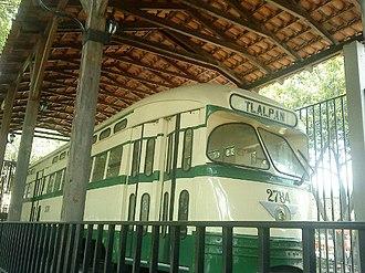 Streetcars in Mexico City - Tranvía PCC en el Museo de Transportes Eléctricos del Distrito Federal.
